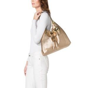 Michael Kors Gold Camden Bucket Shoulder Bag